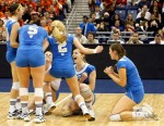 Lady Bruins celebrate their first championship since 1991. courtesy: USPW