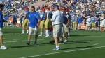 Jim Mora not fazed by Steven Manfro's special teams miscues. photo: Eric Geller