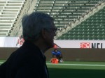 Dick Vermeil comes out of the shadows to coach again in Carson. photo: Eric Geller