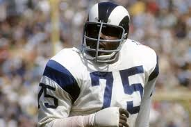 "Deacon Jones coined the term ""Sack"" to describe taking down a quarterback. courtesy:AP"