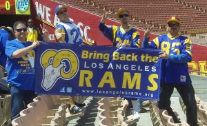 The Bring Back the Los Angeles Rams Facebook page has 25,000+ members.