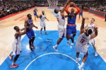 Knicks forward Carmelo Anthony gets shot blocked by Clippers' center DeAndre Jordan. Thanx: nydailynews.com