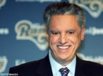 "Ex-Rams GM John Shaw negotiated the ""sweetheart lease"" that moved the Rams to St Louis in 1995. Thanx: AP"