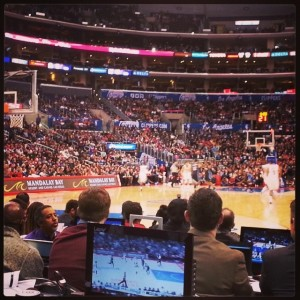 From press row at Staples Center, the media witnessed a mauling by the Clippers over the Orlando Magic, 101-81.