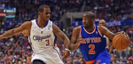 Clippers guard Chris Paul guards the Knicks' Raymond Felton in Wednesday's 93-80 L.A. win. Thanx: foxsports.com