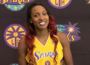 Sparks' newcomer Candice Wiggins is banking on her million-dollar smile and jump shot to help L.A. win another WNBA Title.