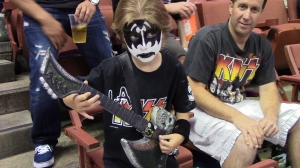 It's a rock 'n roll party at L.A. KISS AFL football games at Honda Center in Anaheim, CA.