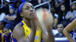 L.A.'s Nneka Ogwumike scored a career-high 35 points in the Sparks 96-90 loss to the Tulsa Shock .