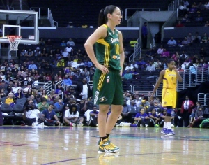 13 year Storm veteran Sue Bird played just under five minutes and didn't score for the Storm.