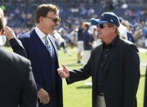 Rams owner Stan Kroenke (left) is building an 80,000 seat stadium in Inglewood.