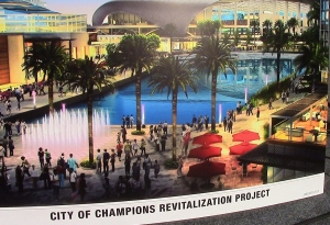 Kroenke is buiding his NFL stadium in Inglewood as part of the City of Champions Revitalization Project.