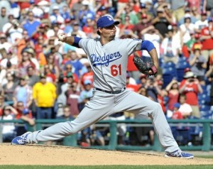 Dodgers' right-hander Josh Beckett is done for the season and contemplating retirement. courtesy: Eric Hartline